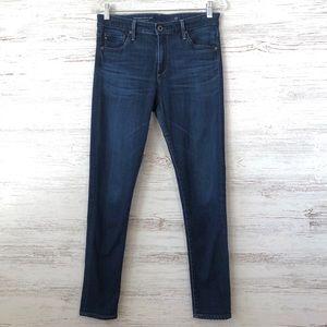 AG Farrah High Rise Skinny Crop Jeans Dark Wash 28